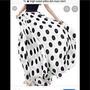 Polka Dot High waist maxi skirt